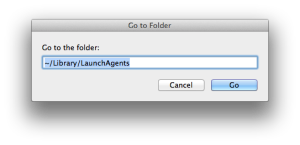 Go to Folder, from the Finder's Go menu
