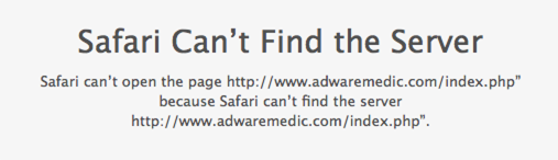 AdwareMedic blocked