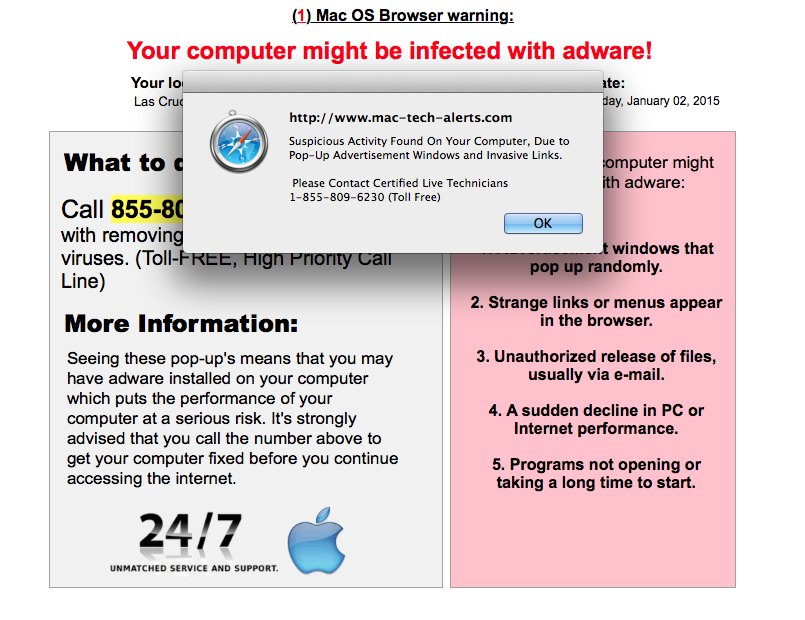 The Safe Mac » Tech support scam pop-ups