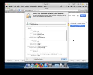 Avast Google certificate
