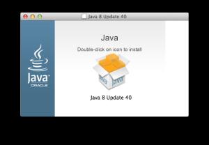 Java 8 Update 40 installer