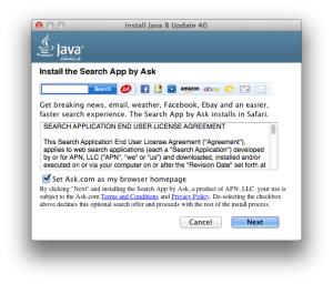 install ask toolbar