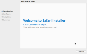 fake Safari installer